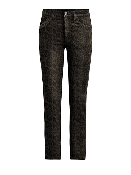 Joes Jeans Charlie Ankle Coated in Dark Leopard GX1LPD5748-DKL
