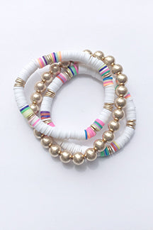 Mutli Ball Rubber Disc Bead Bracelet
