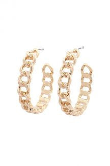 Cuban Link Open Circle Earring