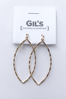 Metal Cut Dangle Earring