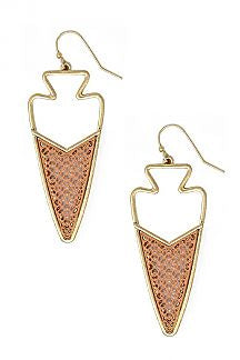 2-Tone Arrow Hook Earring
