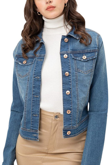 Lucy Stretch Jean Jacket