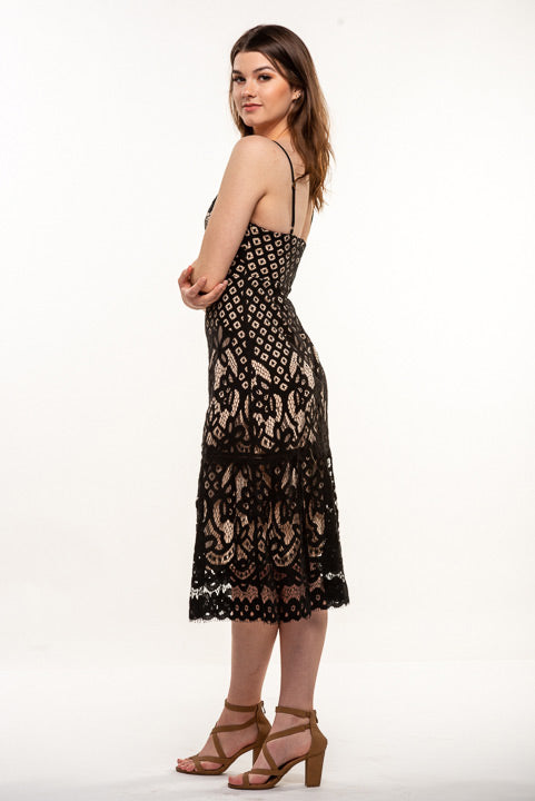Lush Lace Midi Dress LD43295-CI