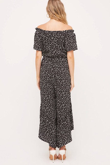 Aubrey Off Shoulder Wide Leg Printed Jumpsuit
