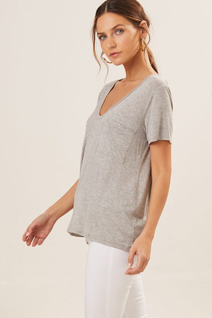 Faith Knit Pocket Tee T11676-008