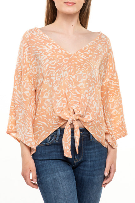 Millibon Animal Front Tie Top T9731O