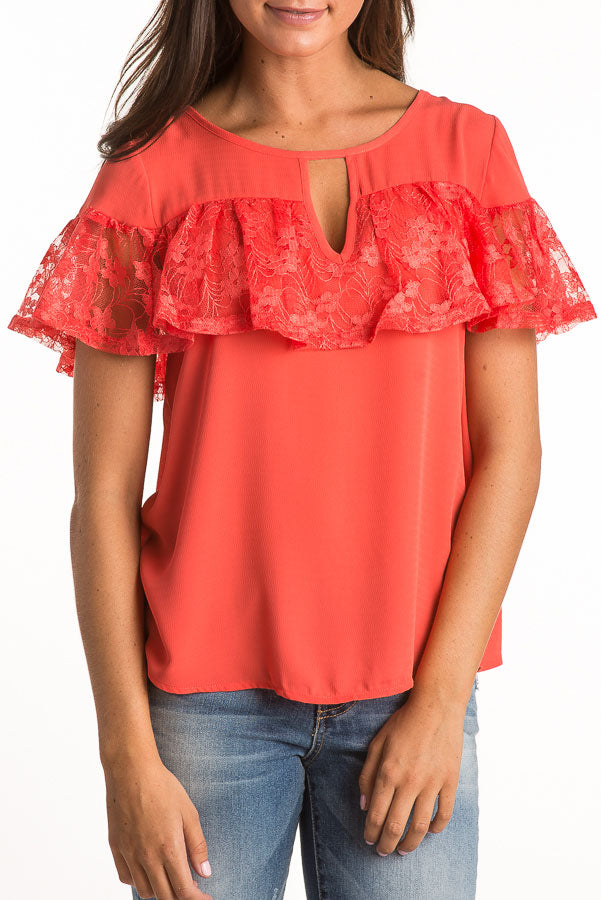 Lace Ruffle Top (more colors)