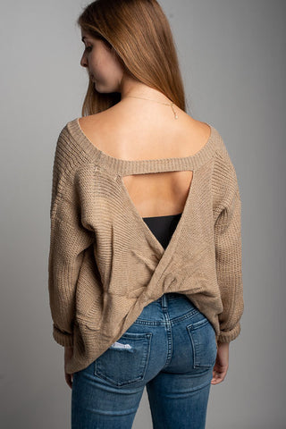 Everly Open Crossback Sweater
