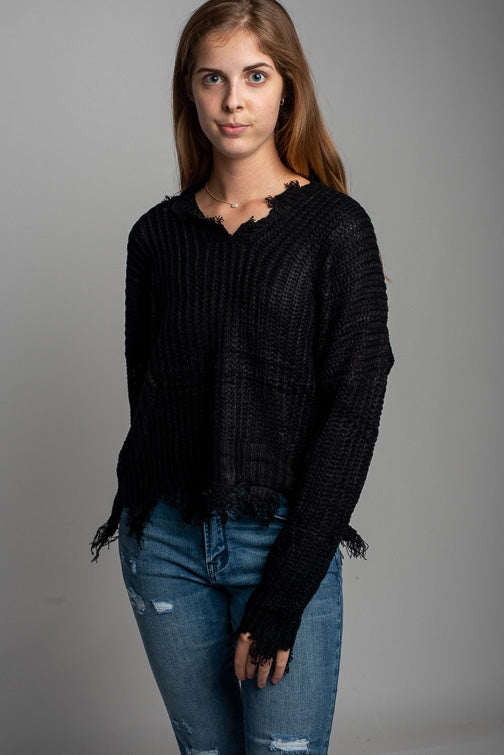 Miracle Unravel Vee Sweater