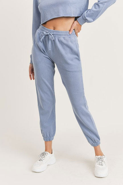 Mono B Washed Ctn Terry Cuffed Jogger KP11613