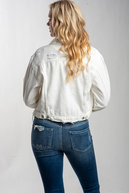 Hailey Color Denim Jacket
