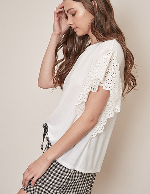 Lace Sleeve Top S16298