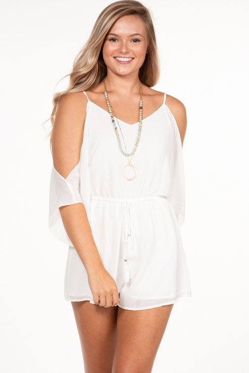 Naked Zebra Cold Shoulder Romper