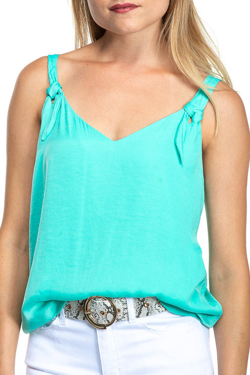 Naked Zebra Knotted Strap Tank (more colors)