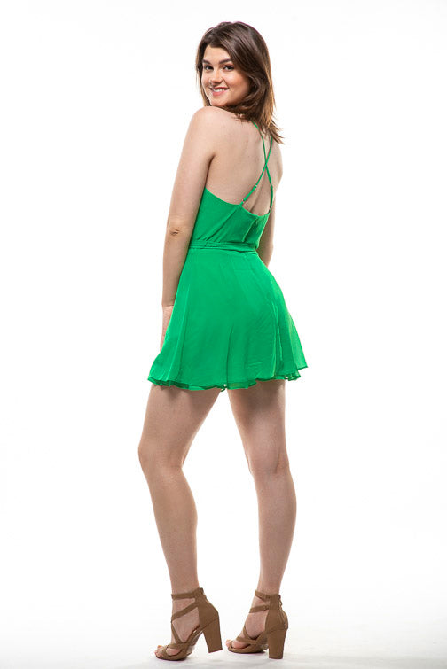 Naked Zebra Emerald Wrap Dress OR114174