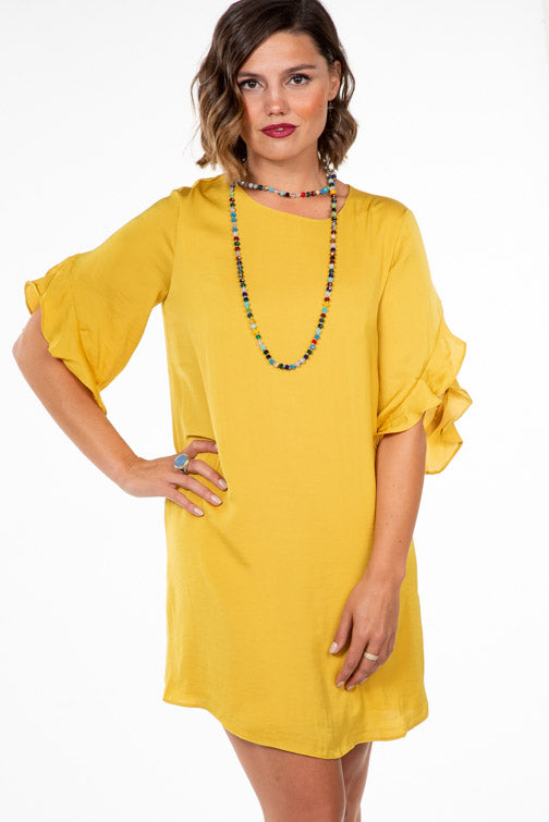 Ruffle Sleeve Dress (more colors)