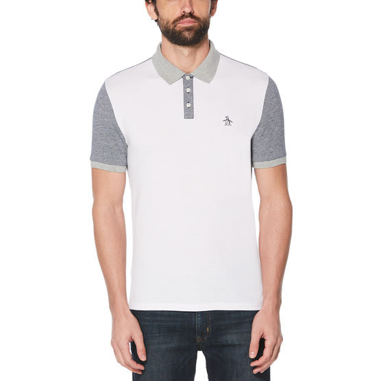Original Penguin Color Block Birdseye Polo