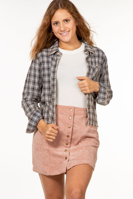 Grunge Plaid Top