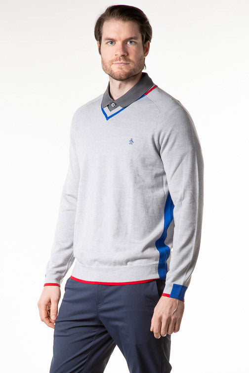 Penguin Golf In The Hole V Neck Sweater OGGM8000