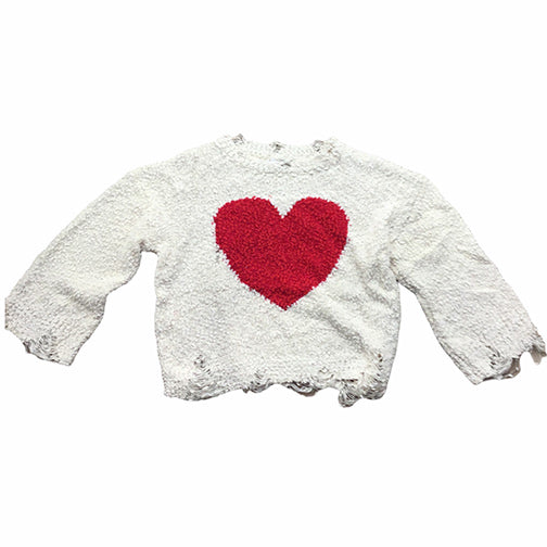 POL Clothing Heart Sweater MST117