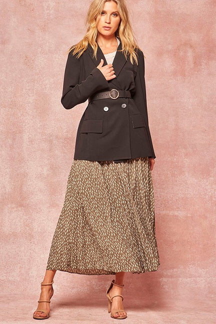 Alice Abstract Polka Dot-Print A-line Midi Skirt