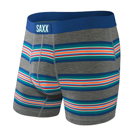 SAXX Ultra Boxer Brief with Fly - Grey Banner Stripe SXBB30F-BNG