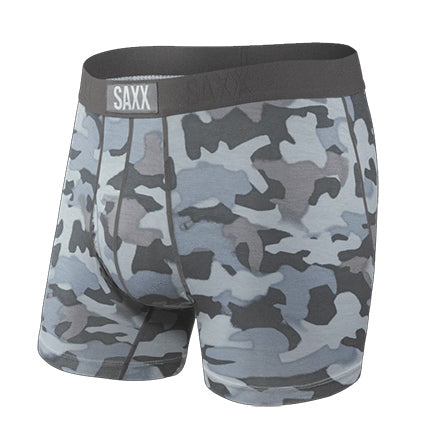 SAXX Ultra Boxer Brief with Fly - Graphite Stencil Camo SXBB30F-GSC