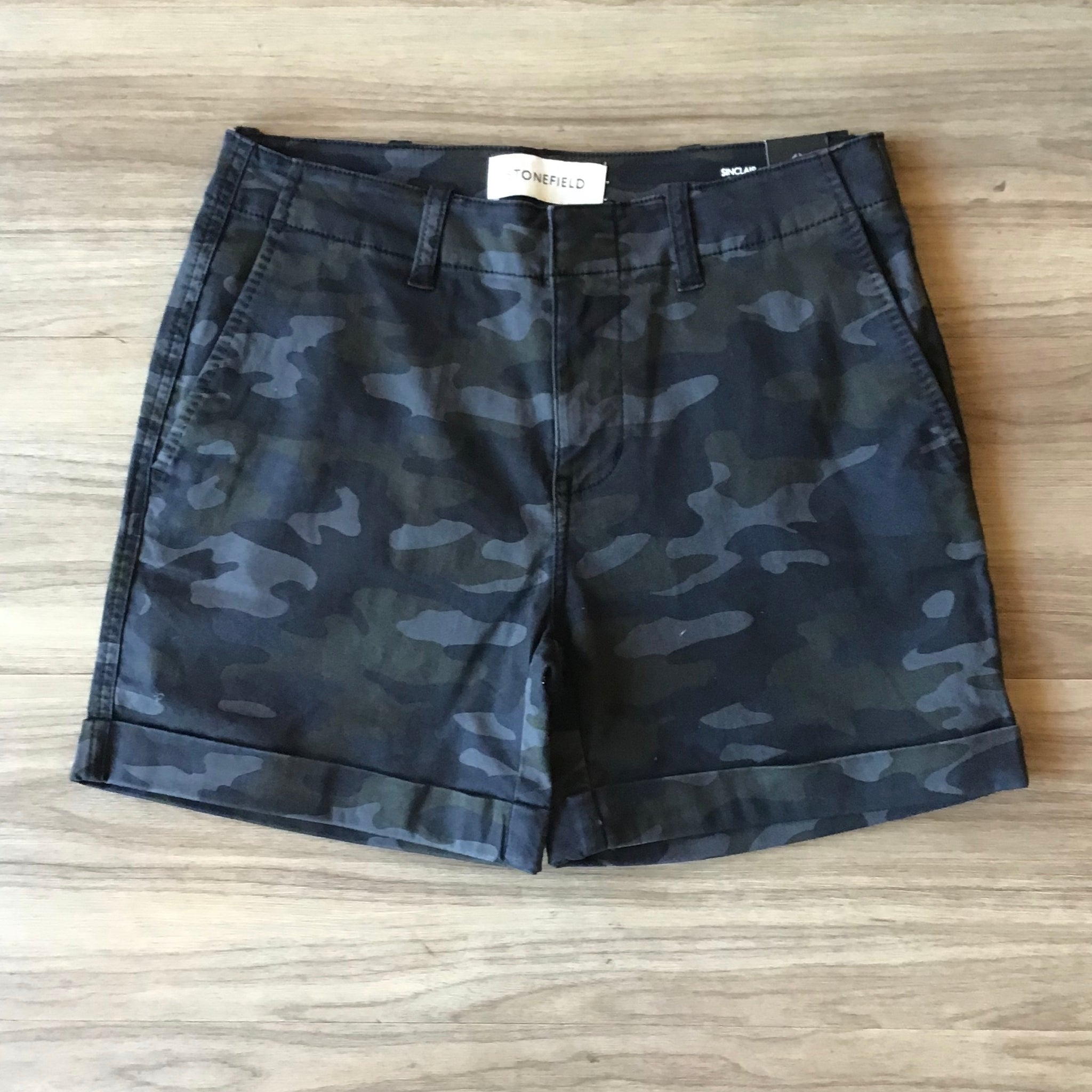 Stonefield Sinclaire Short In Grey Camo SW11003-GYC