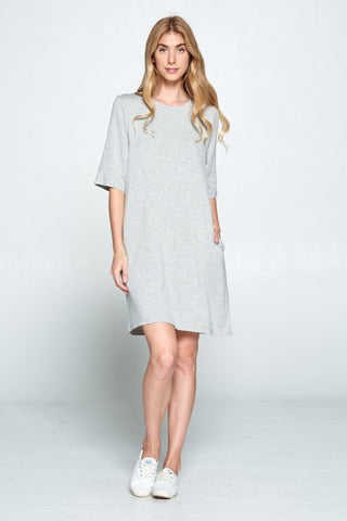 Ellison French Terry Dress TD-9166-6 (more colors)