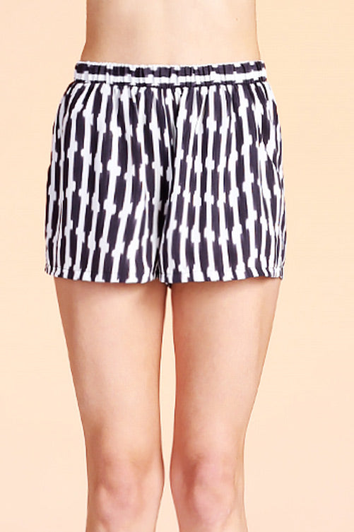 Ikat Stripe Print Pocket Shorts P-5679