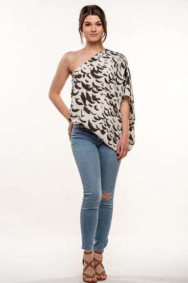 Tyche Slouchy One Shoulder T-5689