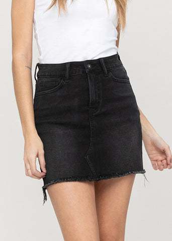 Vervet Raw Hem Mini Skirt VT1075-LIB