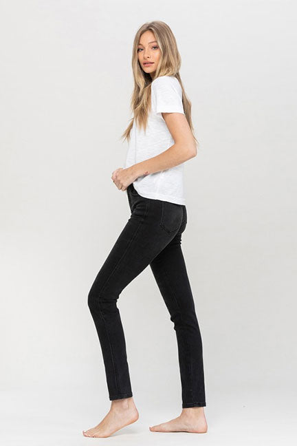 Vervet Hi Rise Button Up Skinny Jean in Love Bug VT1170-LVBG