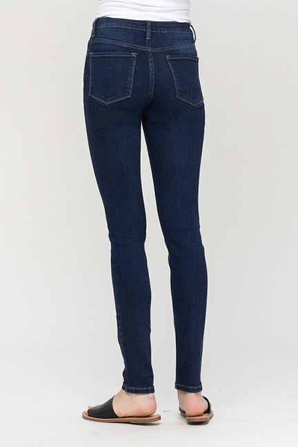 Vervet Midrise Dark Wash Skinny Full Length Jean VT1185-TEA