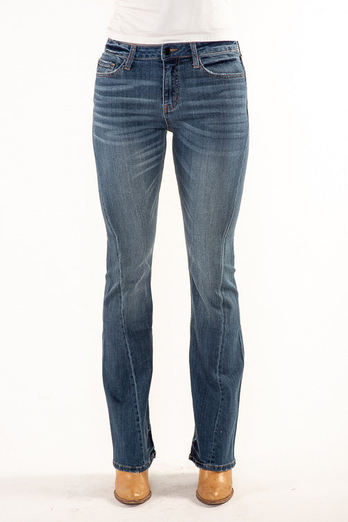 Vervet Highrise Twisted Seam Flare Jean