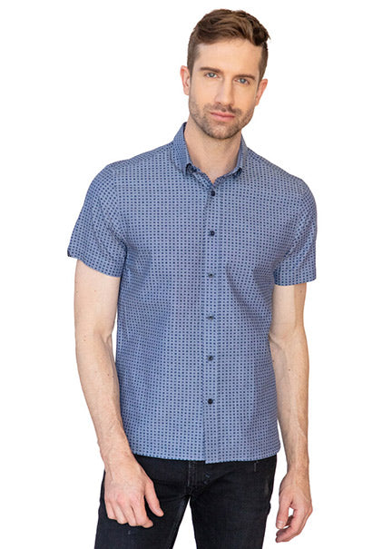 Inky Blue Short Sleeve Shirt