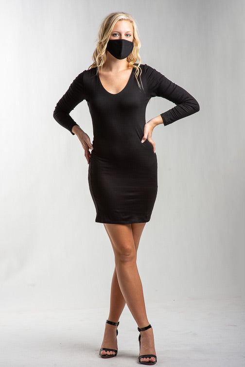 Peyton Deep Vee Knit Dress
