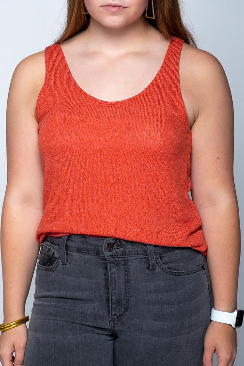 Loose Knit Flared Strappy Tank WMT1952
