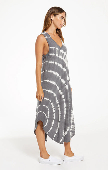 Z Supply Reverie Spiral Tie-Dye Dress ZD211254