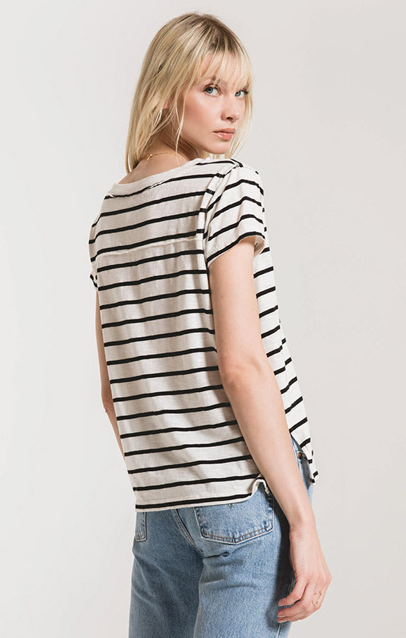 Z Supply Desert Stripe V Neck Tee ZT201114