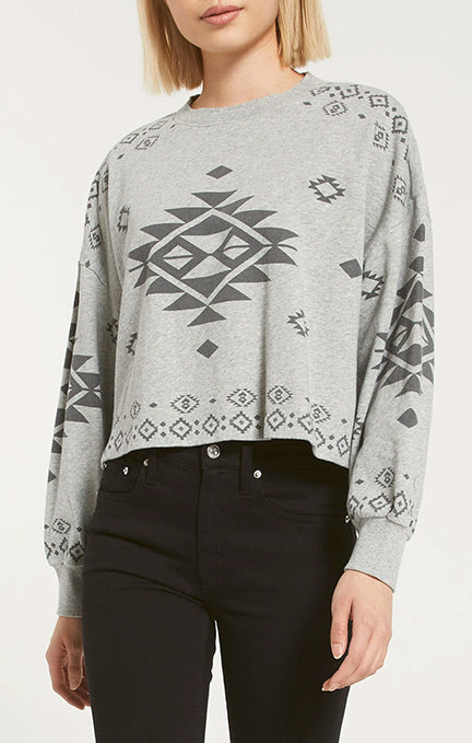 Z Supply Lea Cotton French Terry Sweatshirt ZT203490