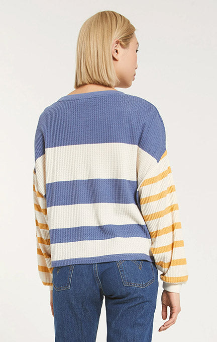 Z Supply Grace Stripe Long Sleeve Top ZT203629