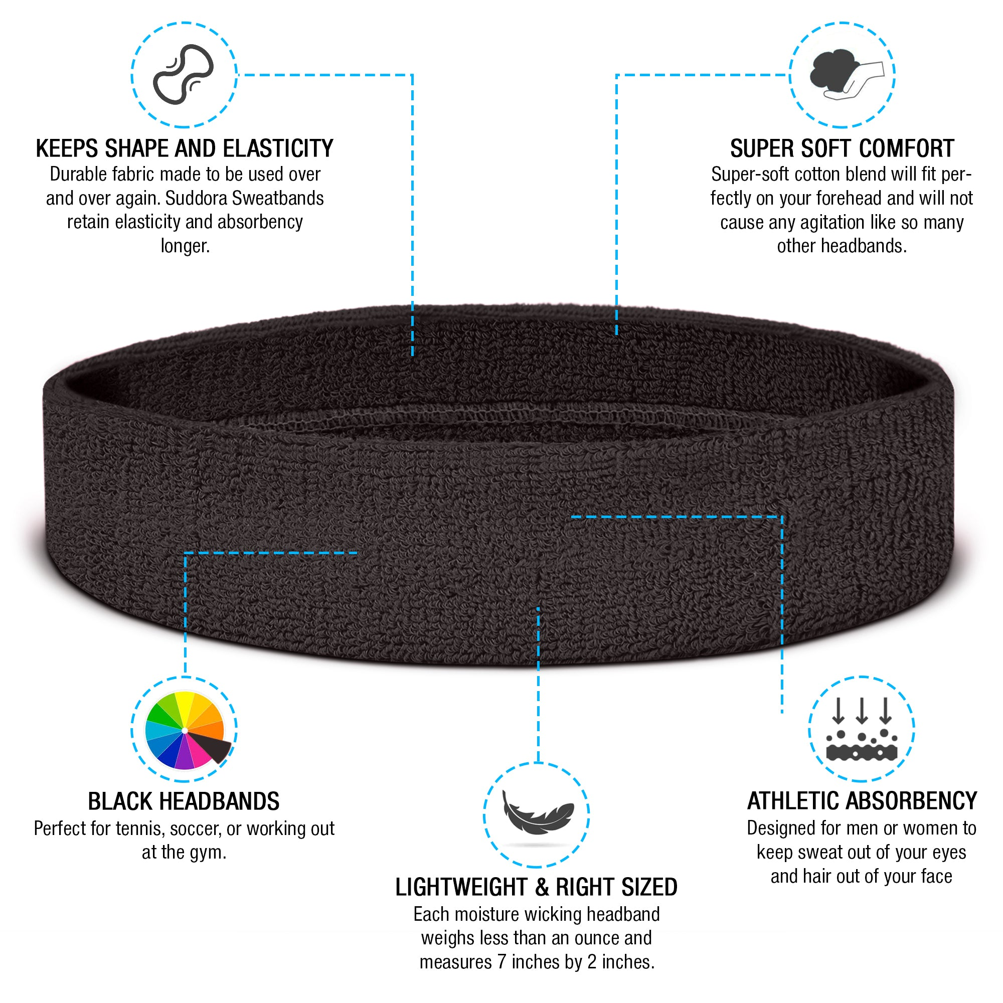 Black Headbands Information