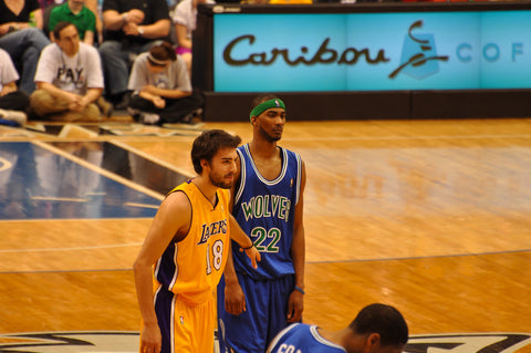 Corey Brewer wearing a green headband