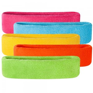 5 different colour neon headbands