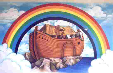 Noahs Ark with Rainbow