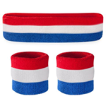 Retro Sweatbands - Terrycloth Cotton Headbands & Wristbands