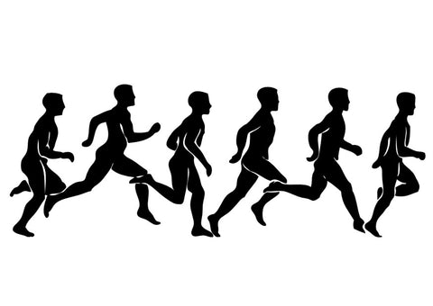 The running pattern of one person