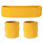 Yellow Sweatbands - Terrycloth Cotton Headbands & Wristbands