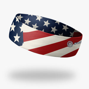 "USA Patriot - American Flag Headband (2.25"" Reversible)"